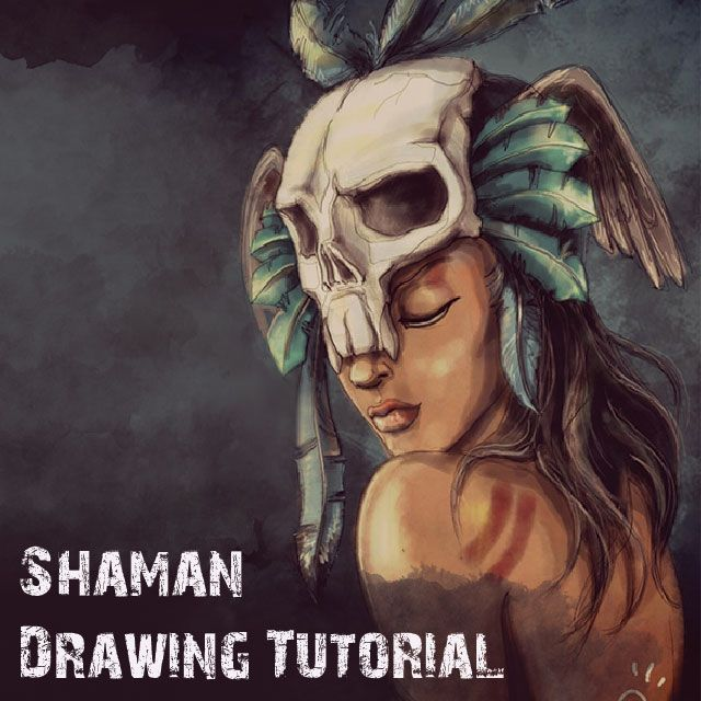 how to draw a shaman with picsart