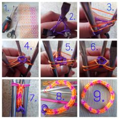 photography bracelet loom collage color splash colorful