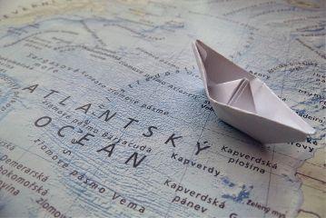 ship vintage travel map ocean