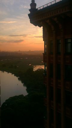 moscow sunset river summer