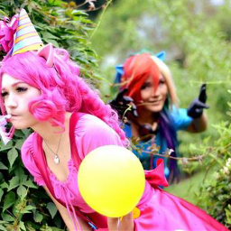 pinkie pie rainbow dash mlp cosplay anime
