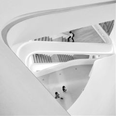 photography black & white korea architecture people