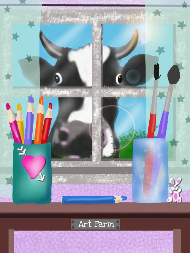 #dccreativespace #drawing draw me.....moooooo
