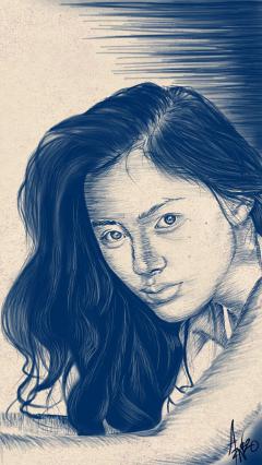 art people drawing love portrait
