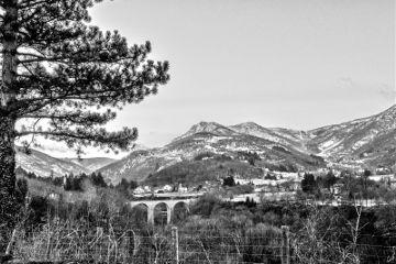 blackandwhite bridge landscape omd