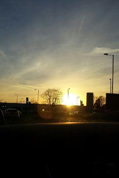 sun sunset evening car sky