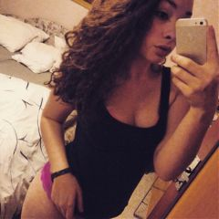 brunette happy selfie czechgirl cz